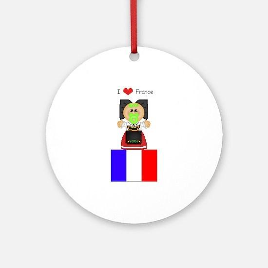 I Love France Keepsake (Round)