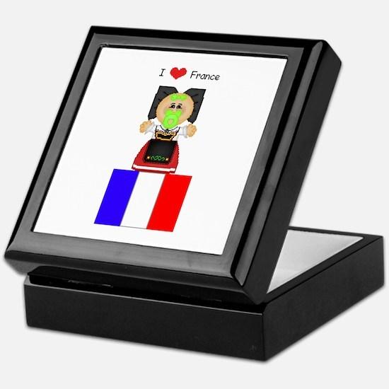 I Love France Keepsake Box