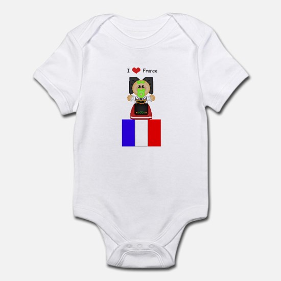 I Love France Infant Creeper