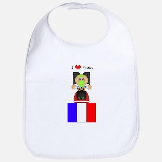 I Love France Bib