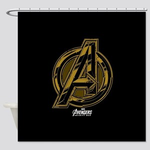 Avengers Infinity War Symbol Shower Curtain