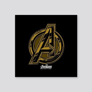 "Avengers Infinity War Symbo Square Sticker 3"" x 3"""