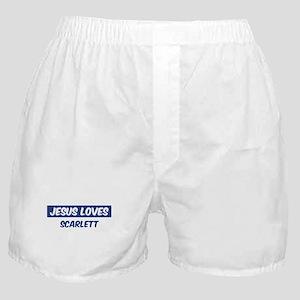 Jesus Loves Scarlett Boxer Shorts
