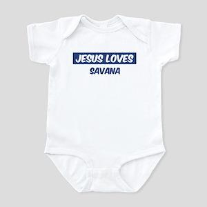 Jesus Loves Savana Infant Bodysuit