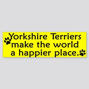 Happy Place Yorkie Bumper Sticker