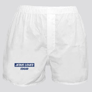 Jesus Loves Edgar Boxer Shorts