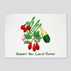 Support Your Local Farmer 5'x7'Area Rug