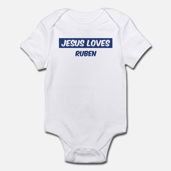 Jesus Loves Ruben Infant Bodysuit