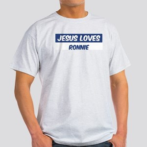 Jesus Loves Ronnie Light T-Shirt