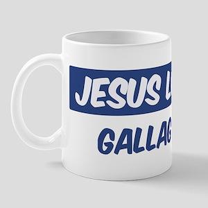 Jesus Loves Gallagher Mug