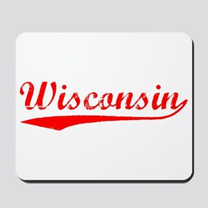 Vintage Wisconsin (Red) Mousepad