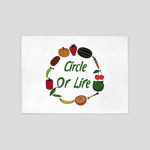 Produce Circle Of Life 5'x7'Area Rug