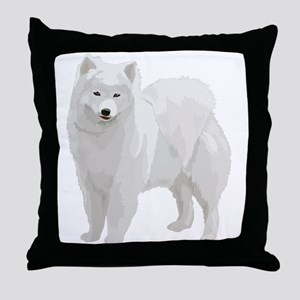Beautiful Samoyed Throw Pillow