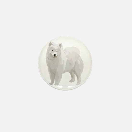 Beautiful Samoyed Mini Button