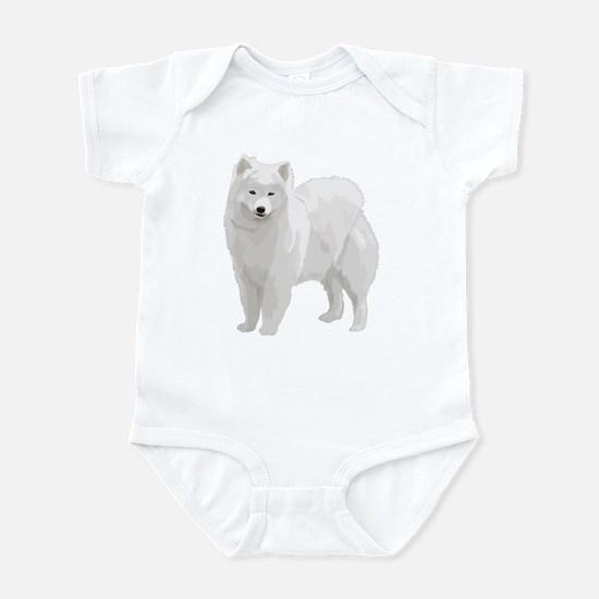 Beautiful Samoyed Infant Bodysuit