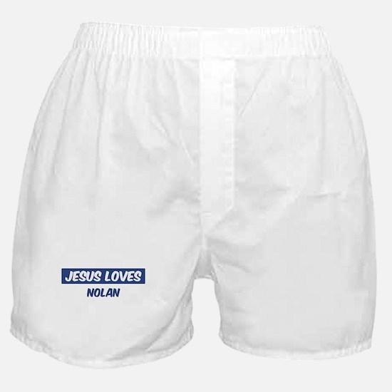Jesus Loves Nolan Boxer Shorts