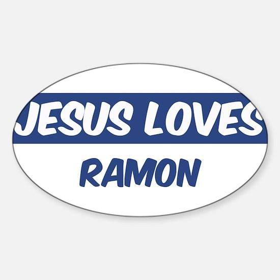 Jesus Loves Ramon Oval Decal