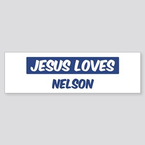Jesus Loves Nelson Bumper Sticker