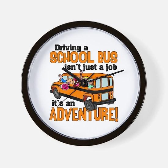 Driving a School Bus Wall Clock