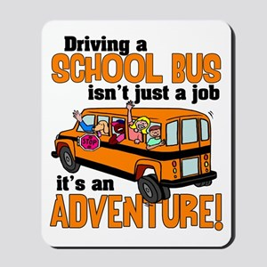Driving a School Bus Mousepad
