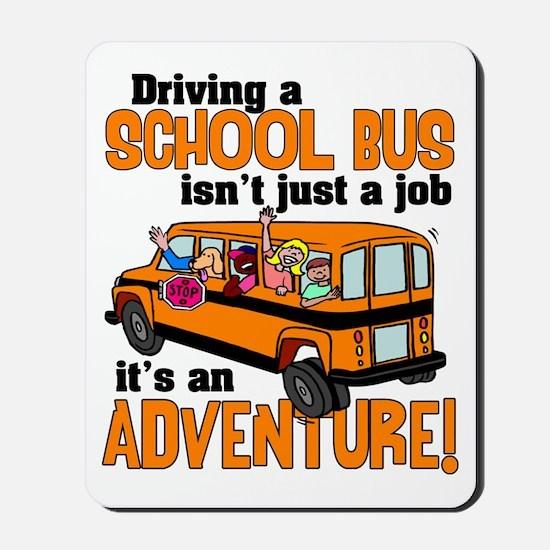 Driving a School Bus Mousepad