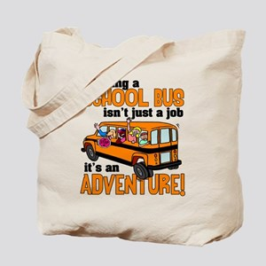 Driving a School Bus Tote Bag
