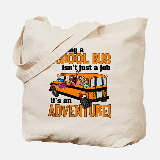 Driving a School Bus Tote Bag