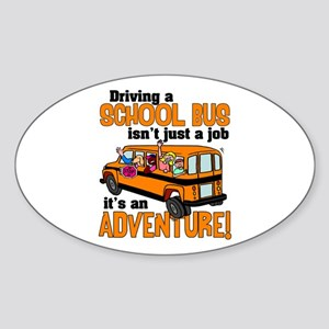Driving a School Bus Oval Sticker