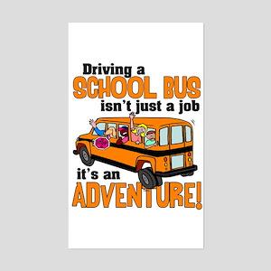 Driving a School Bus Rectangle Sticker
