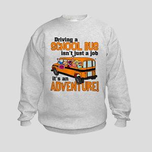 Driving a School Bus Kids Sweatshirt