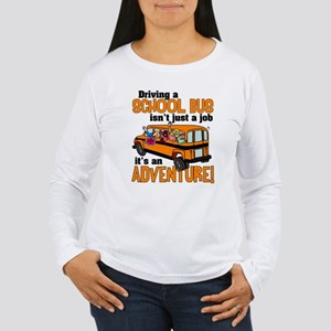 Driving a School Bus Women's Long Sleeve T-Shirt