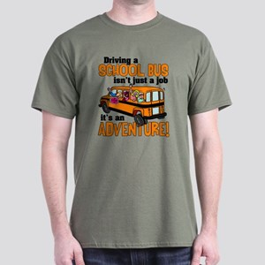 Driving a School Bus Dark T-Shirt