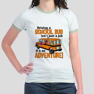 Driving a School Bus Jr. Ringer T-Shirt
