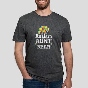 Autism Aunt Bear Mens Tri-blend T-Shirt