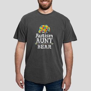 Autism Aunt Bear Mens Comfort Colors Shirt