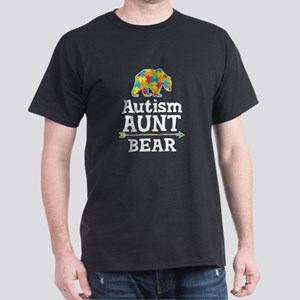 Autism Aunt Bear Dark T-Shirt