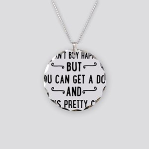 dog Necklace Circle Charm