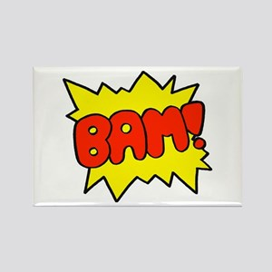 Comic 'Bam!' Rectangle Magnet