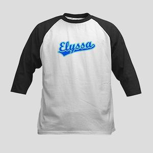 Retro Elyssa (Blue) Kids Baseball Jersey