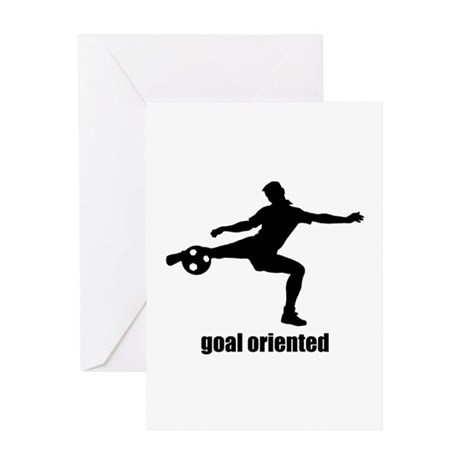 Goal Oriented Soccer Greeting Card