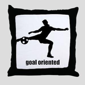Goal Oriented Soccer Throw Pillow