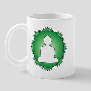 Green Lotus Buddha Mug