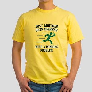 Beer Drinker Running Problem White T-Shirt