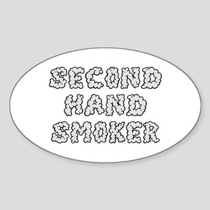 Second Hand Smoker Oval Sticker