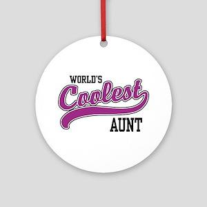 World's Coolest Aunt Ornament (Round)
