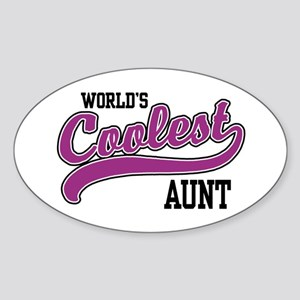 World's Coolest Aunt Oval Sticker