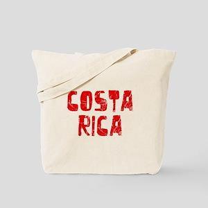 Costa Rica Faded (Red) Tote Bag