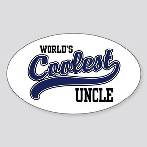 World's Coolest Uncle Oval Sticker