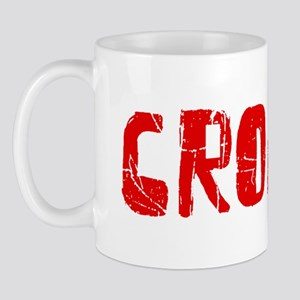 Croatia Faded (Red) Mug