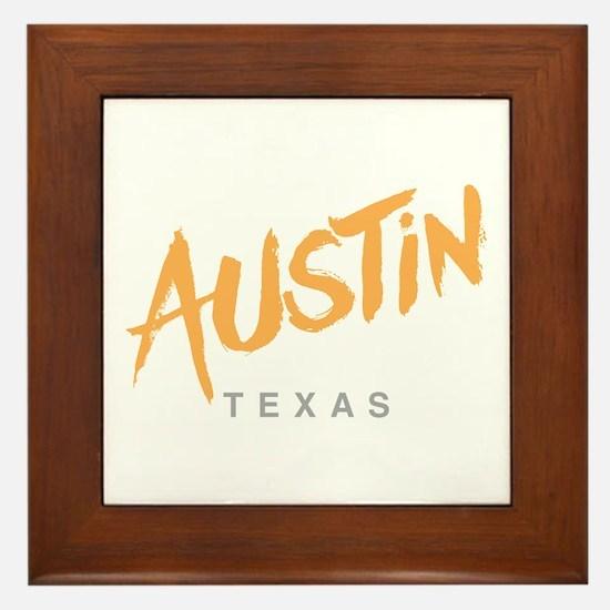 Austin Texas Framed Tile